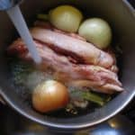 Pressure Cooker Chicken Stock - adding water to cover