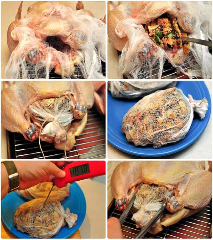 Stuffing a capon for the rotisserie, step by step pictures   DadCooksDinner.com