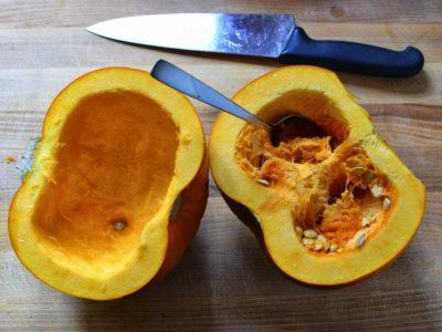 Seeding the pumpkin