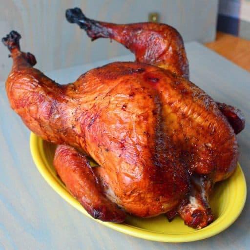 Dry Brined Grilled Turkey | DadCooksDinner.com