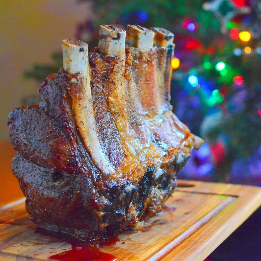 Rotisserie Rib Roast, Reverse Seared | DadCooksDinner.com