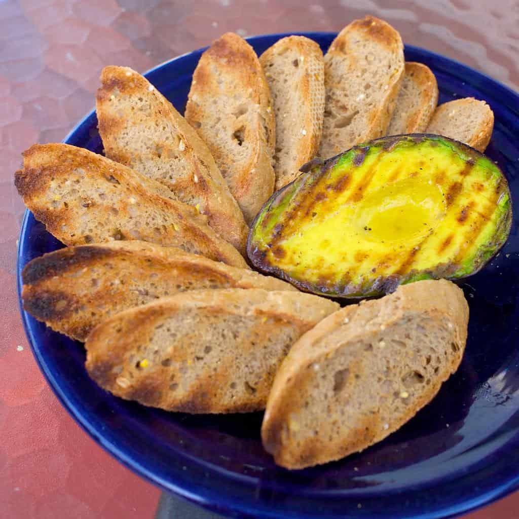 Grilled Avocados with Lemon Vinaigrette
