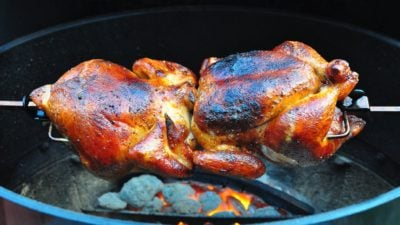Rotisserie Chicken with Barbecue Sauce