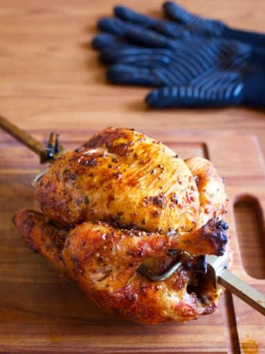 Rotisserie Chicken with Coriander and Peppercorn Dry Brine
