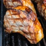 Double Cut Pork Chops on the grill