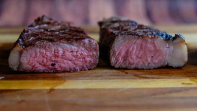 Reverse Sear on the left, Sear and Move on the right