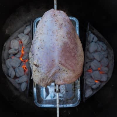 Rotisserie Turkey with Mole Sauce-0637