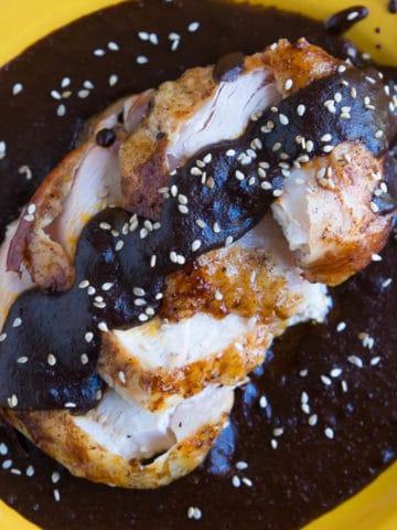 Rotisserie Turkey with Mole Sauce