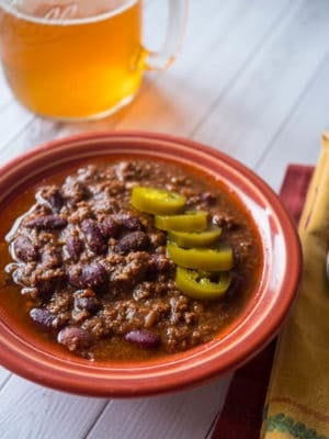 Pressure Cooker Beef and Bean Chili