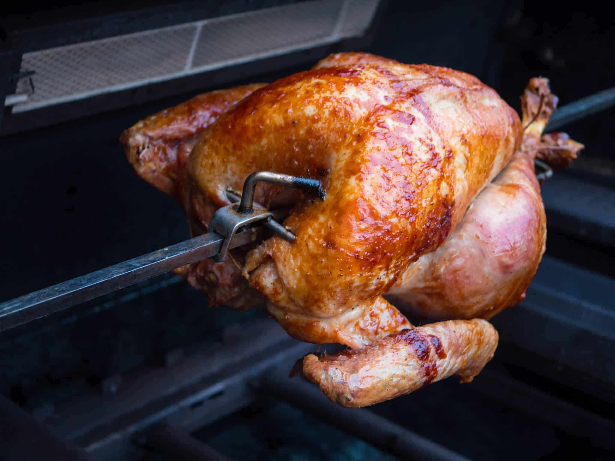 Rotisserie Turkey With Basic Dry Brine