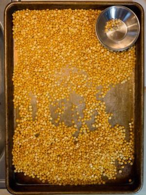 Sorting the peas