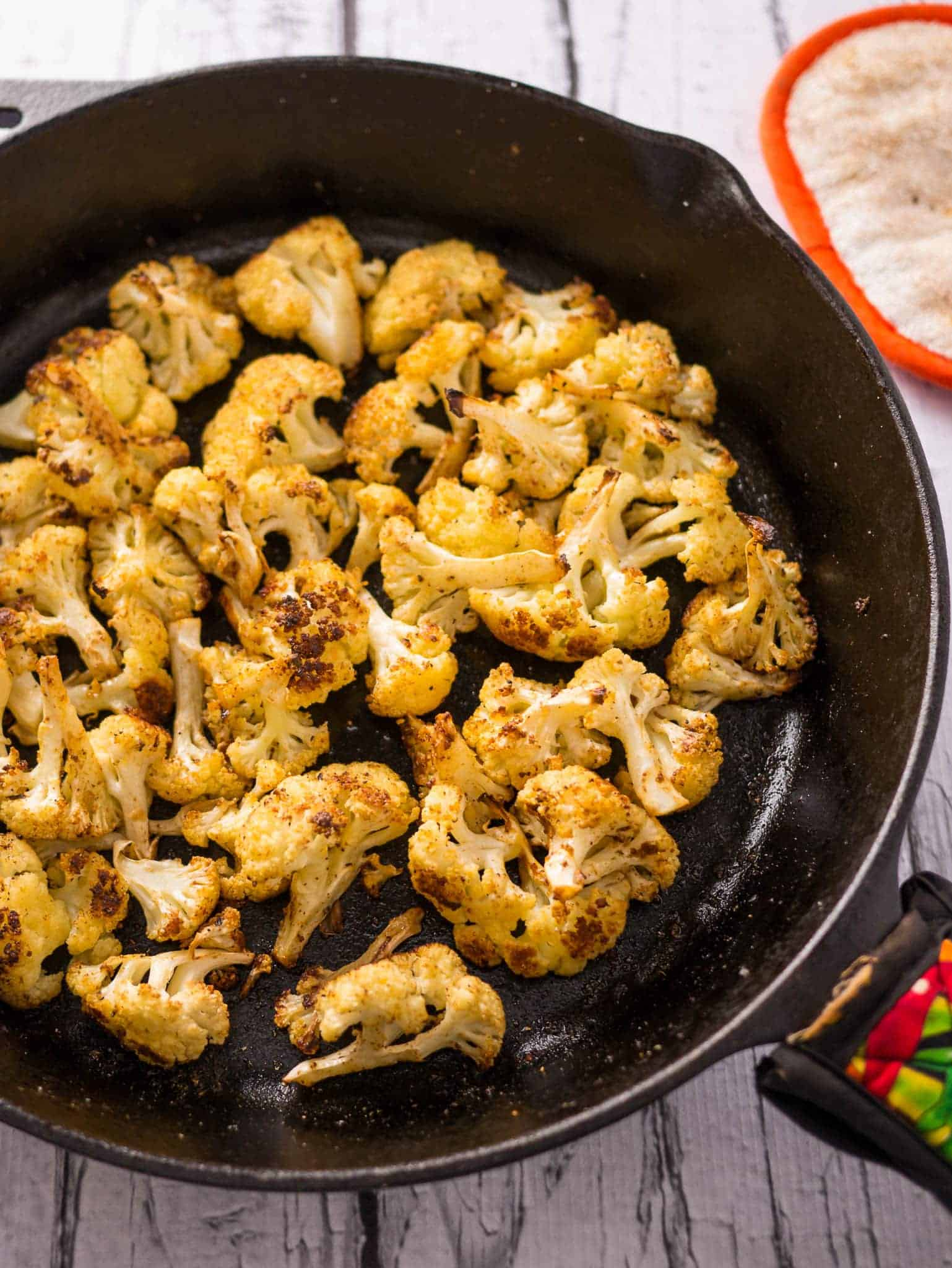 Cast Iron Roasted Cauliflower