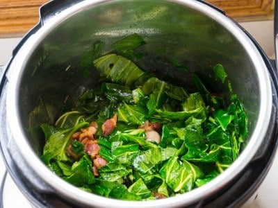 Stir in the collards