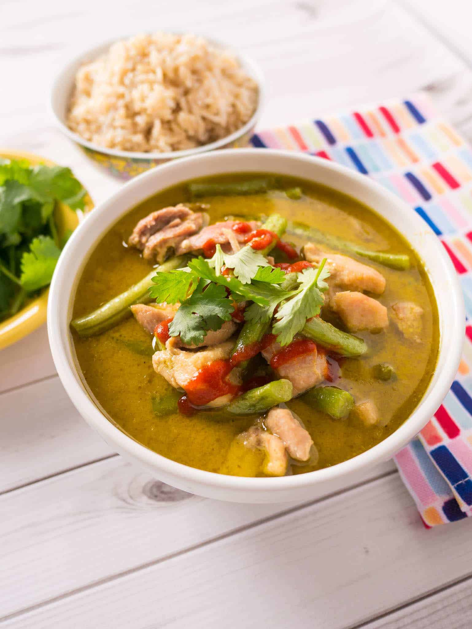 Pressure Cooker Thai Green Chicken Curry
