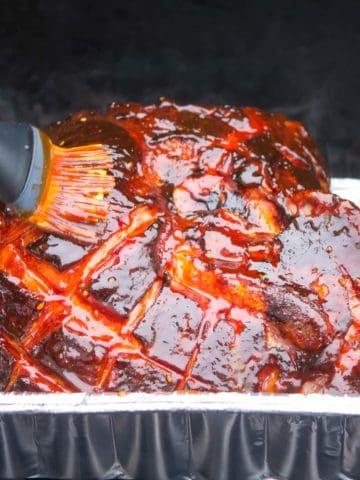 Grilled Ham with Gochujang Glaze