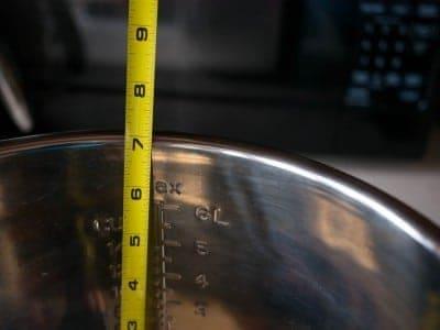 New pot height