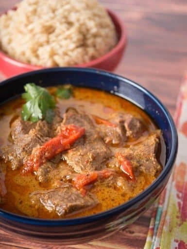 Pressure Cooker Thai Red Beef Curry