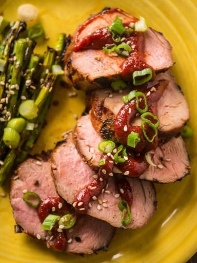 Grilled Pork Tenderloin with Gochujang Marinade | DadCooksDinner.com