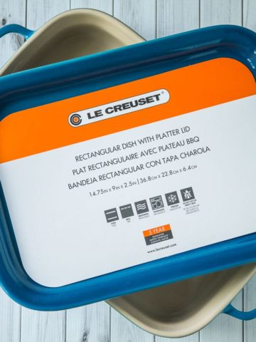 Giveaway: Le Creuset Dish with Platter Lid | DadCooksDinner.com
