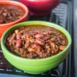 Pressure Cooker Quick Chili with Canned Beans   DadCooksDinner.com
