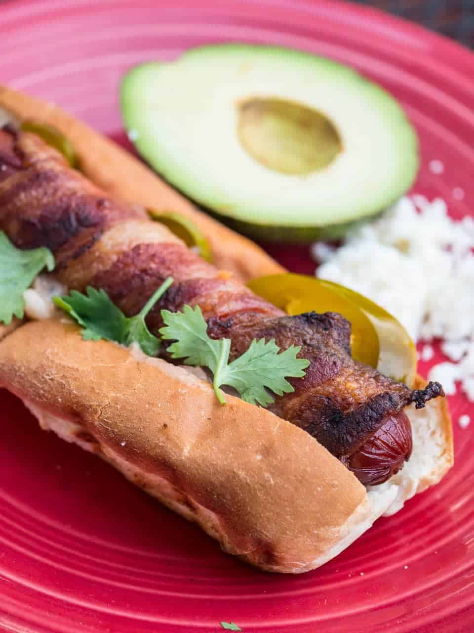 Grilled Mexican Hot Dogs | DadCooksDinner.com