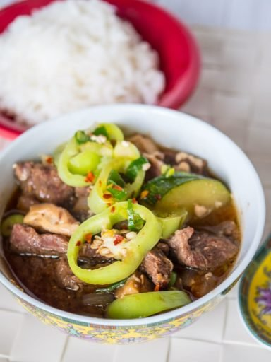 Pressure Cooker Korean Beef Stew (Doenjang Jjigae)   DadCooksDinner.com