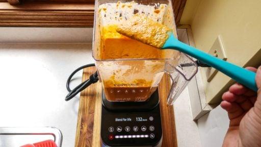 Pressure Cooker Red Pepper Hummus | DadCooksDinner.com