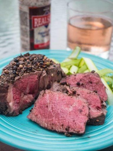 Sous Vide Peppercorn Filet Mignon | DadCooksDinner.com