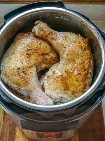 Pressure Cooker Chicken Legs with Herb Rub | DadCooksDinner.com