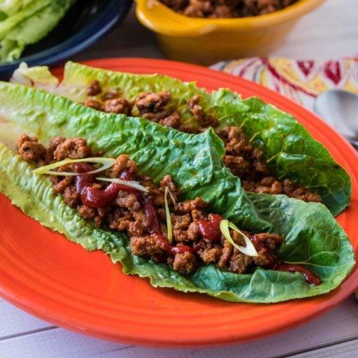 Turkey Lettuce Wraps Korean Style   DadCooksDinner.com