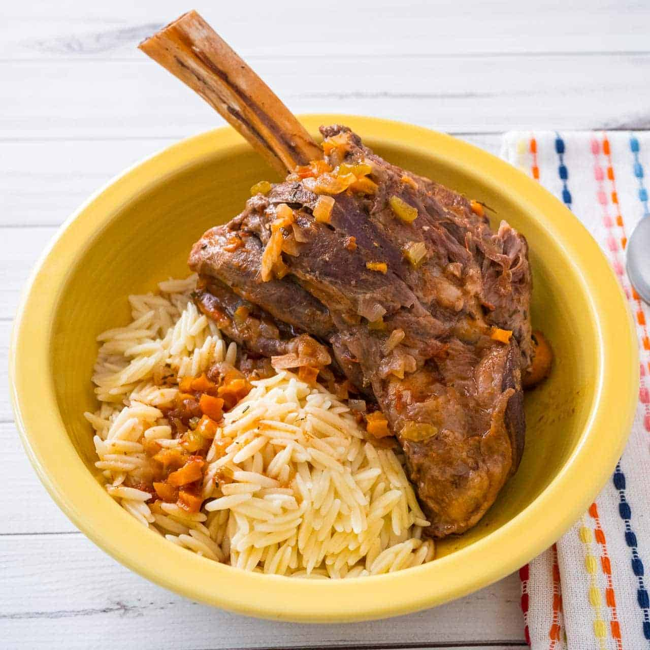 Pressure Cooker Greek Lamb Shanks | DadCooksDinner.com
