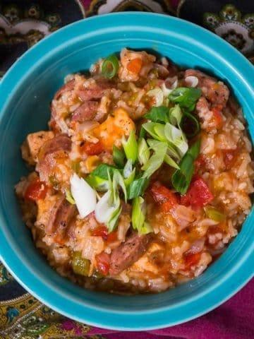 Pressure Cooker Jambalaya with Chicken | DadCooksDinner.com