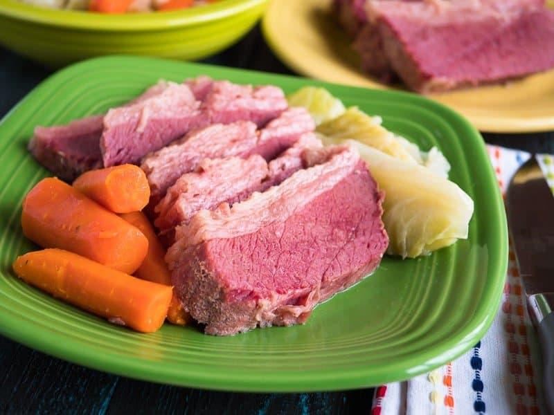 Pressure Cooker Corned Beef and Cabbage | DadCooksDinner.com
