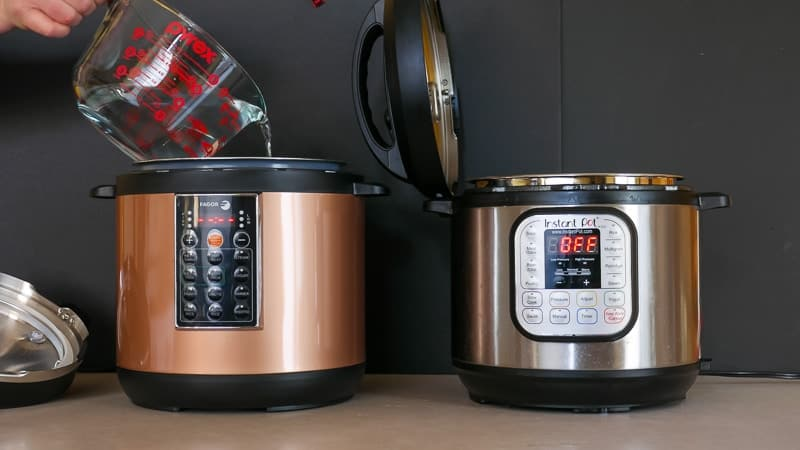 Fagor Lux vs Instant Pot - Pressure Cooking time to pressure showdown | DadCooksDinner.com