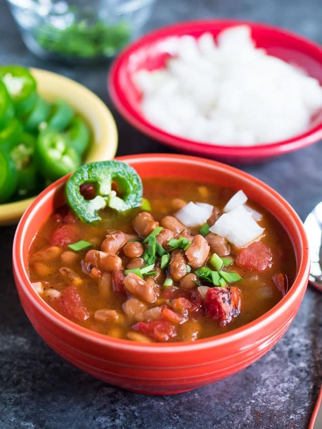 Pressure Cooker Southwestern Bean Soup | DadCooksDinner.com