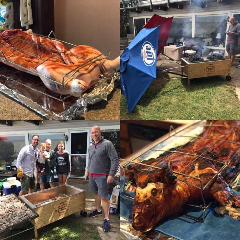 La Caja China Pig Roast - finishing up collage | DadCooksDinner.com