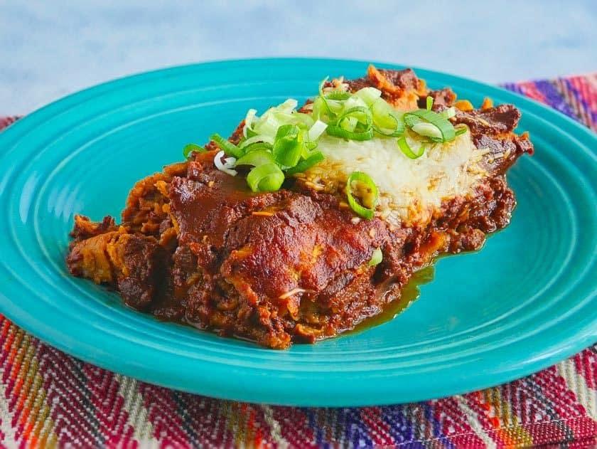 Pressure Cooker Beef Brisket Enchiladas | DadCooksDinner.com