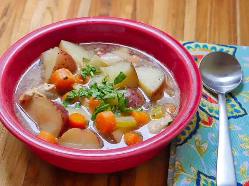 Pressure Cooker Chicken Potato Soup   DadCooksDinner.com