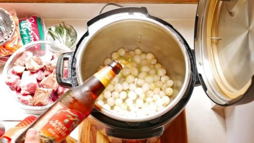 A splash of cider in the pot | DadCooksDinner.com