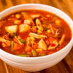 Pressure Cooker Day-After-Thanksgiving Vegetable Turkey Soup | DadCooksDinner.com