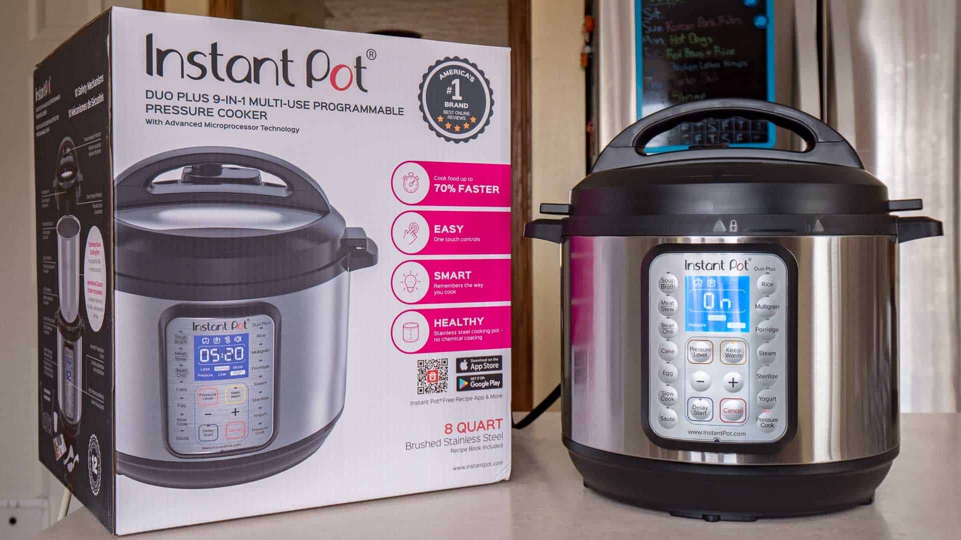 Instant Pot Duo Plus 8 Quart with Box | DadCooksDinner.com