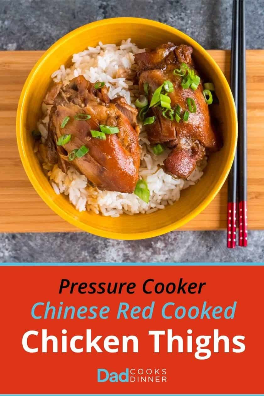 Pressure Cooker Chinese Red Cooked Chicken Thighs   DadCooksDinner.com