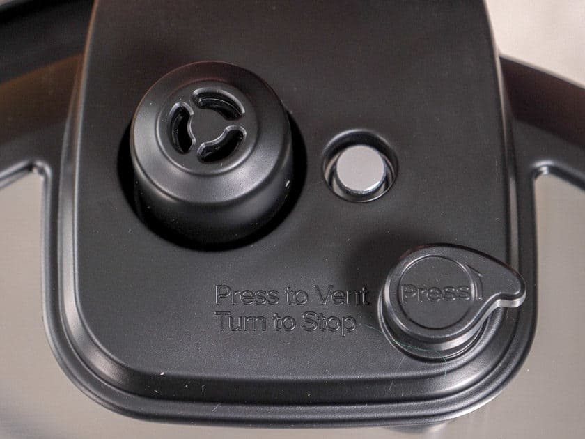 Instant Pot Ultra - Close up of pressure valve and release on lid | DadCooksDinner.com