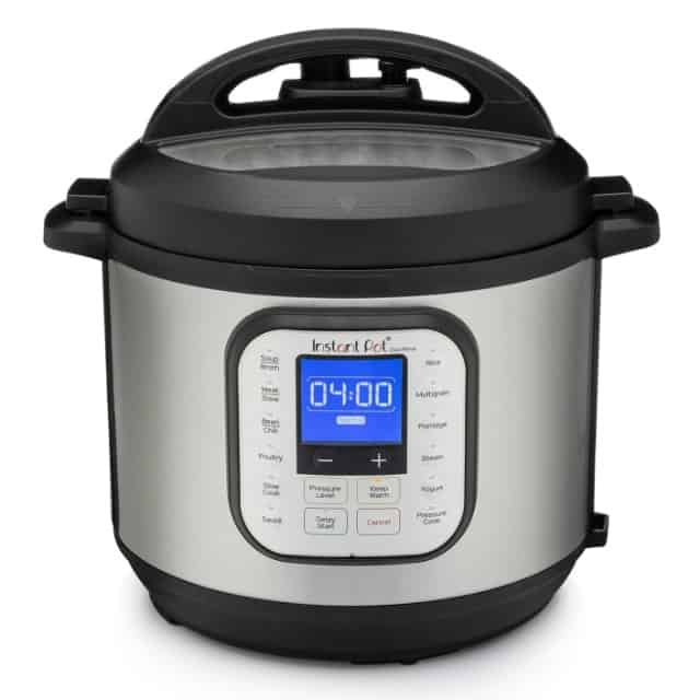 An Instant Pot Duo Nova on a white background. Image courtesy of Instant Pot.